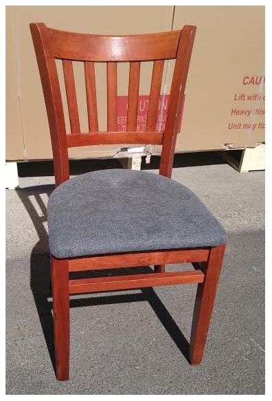 Slat Back Chairs wooden dining side chair