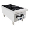 "12"" Heavy Duty gas two burner hotplate. Counter model."