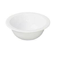 "Melamine White 4.75"" Fruit Bowls"