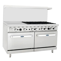 "24"" Griddle Six Open Burner Range"