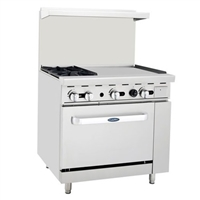 Two Burner, Open Griddle Range