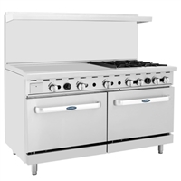 "Four Open Burner 36"" Griddle Range"