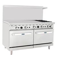 "48"" Griddle Two Burner Range"