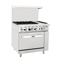 Four Burner, Open Griddle Range