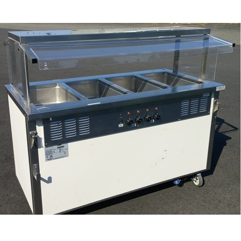 Hot Four Well Buffet Table - 4 well gas steam table