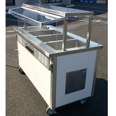 Hot Four Well Buffet Table - Used buffet steam table for sale